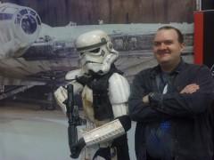 James with Stormtrooper