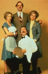 Clockwise: John Cleese, Prunella Scales, Andrew Sachs & Connie Booth