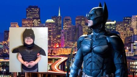 caped crusader gets a Bat-Kid