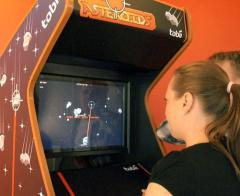Tobii's Asteroids won't be in an arcade near you, but at CES '14, it may be a hit.