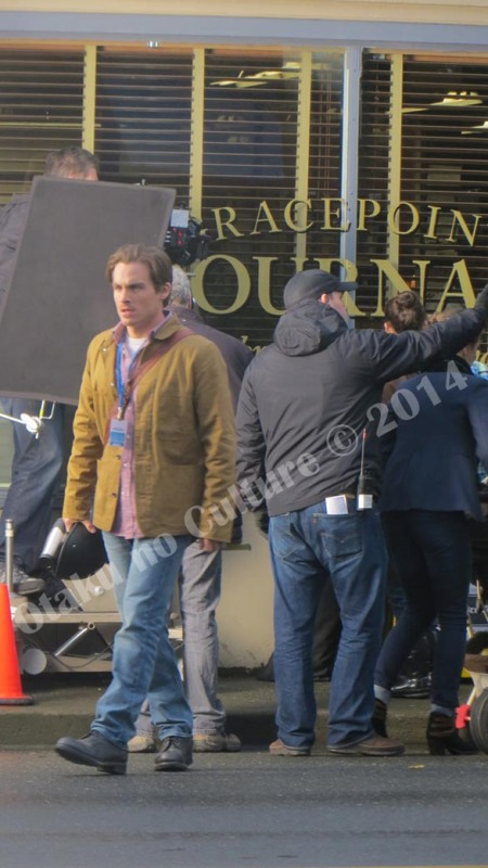 Kevin Zegers getting ready for a call