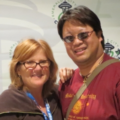 Ed meeting Nancy Cartwright