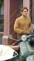 Kevin Zegers is more than cool behind this bike.