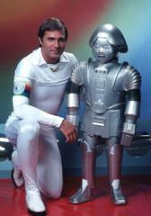 Buck Rogers and Twiki - press photo