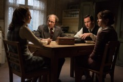 "(L-r) VERA FARMIGA as Lorraine Warren, SIMON McBURNEY as Maurice Grosse, PATRICK WILSON as Ed Warren and FRANCES O'CONNOR as Peggy Hodgson, in New Line Cinema's supernatural thriller ""THE CONJURING 2,"" a Warner Bros. Pictures release."