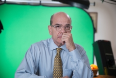 Robert Picardo gets the green screen treatment for his video segments