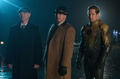 "DC's Legends of Tomorrow --""The Chicago Way""-- LGN208a_0307.jpg -- Pictured (L-R): Neal McDonough as Damien Darhk, John Barrowman as Malcolm Merlyn and Matthew Letscher as Eobard Thawne -- Photo: Jack Rowand/The CW -- © 2016 The CW Network, LLC. All Rights Reserved"