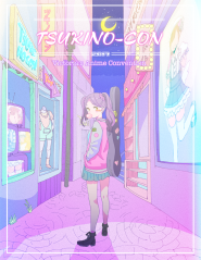 Tsukino-Con 2017 poster art by Bomhat.