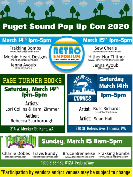 ECCC Pop Up Con List
